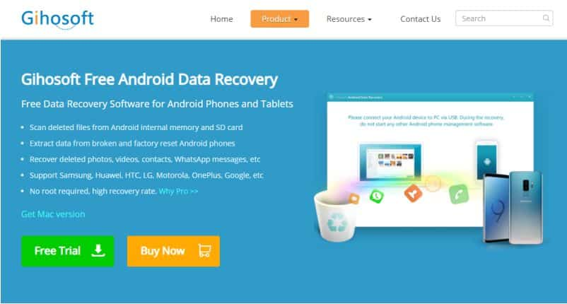 Gihosoft Data Recovery app